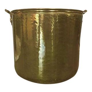 Large Brass Handled Planter