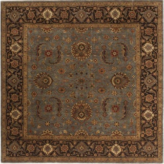 """Antique Reproduction Hand-Knotted Rug - 8'10""""x 8'10"""""""