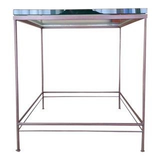 Contemporary Metal & Glass End Table