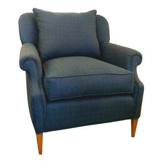 Indigo Blue Mid-Century Club Chair