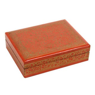 Orange Kashmiri Jewelry Box