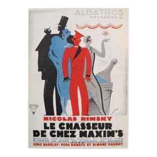 1920s Mini Movie Poster, Chasseur de Chez Maxim's