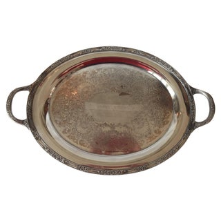 English Silver Plated Tray With Handles