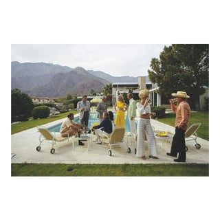 "Oversized Slim Aarons Desert House Party Print - 60"" x 40"""