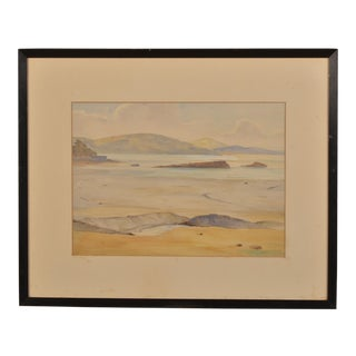A beautiful watercolour of the south coast signed in the lower right from England c.1900.