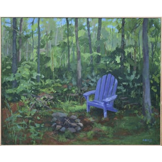 "Stephen Remick Painting ""At the Edge of Back Yard"""
