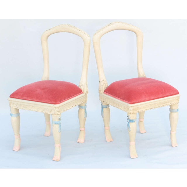 Set of Four Ballerina Side Chairs - Image 2 of 10