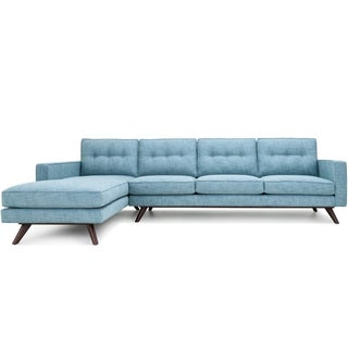 Clad Home Mid-Century Style Tufted Sectional
