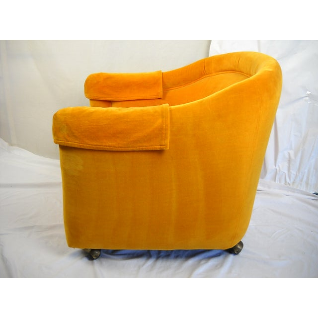 1960s Saffron Yellow Velvet Tub Chair Chairish