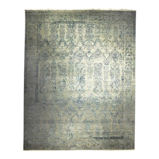 "Custom Made Indian Handknotted Wool and Silk Rug - 8'2""x 10'4"""