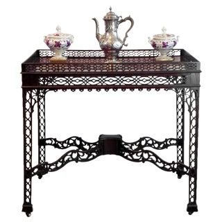 Chinese Chippendale Mahogany Tea/Coffee Table, circa 1790