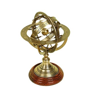 Vintage Nautical Armillary Brass Globe