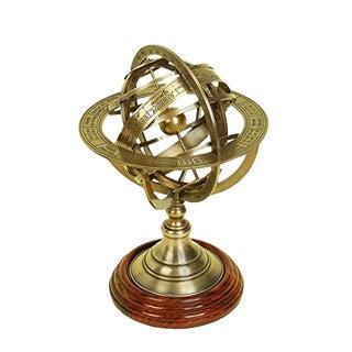 Vintage Nautical Armillary Brass Globe