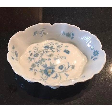 Image of Haviland Limoges Blue Flowered Nut Dish