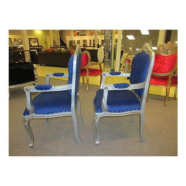 Mid-Century Velvet Armchairs - A Pair - Image 7 of 7