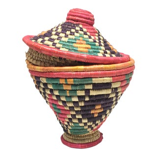 Boho Chic Handwoven Small Basket