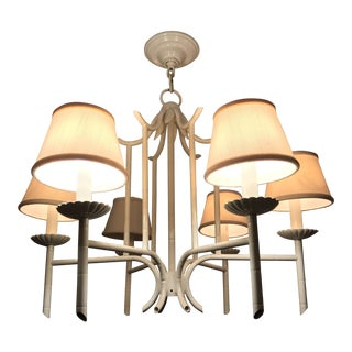 Hollywood Regency Style Faux Bamboo Chandelier
