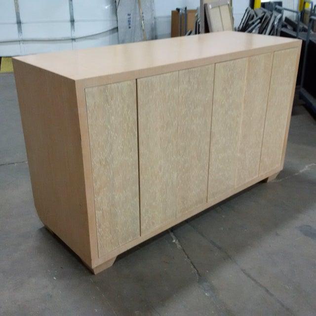 Modern Custom Oak Finish Buffet - Image 2 of 7
