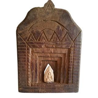Antique 19th Cent Teak Deity Shrine