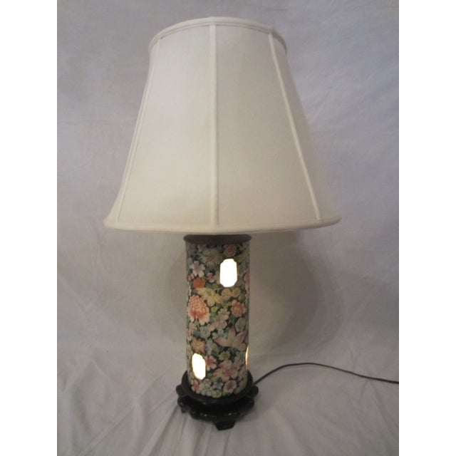 Asian Inspired Lamps With Night Light - A Pair - Image 6 of 8