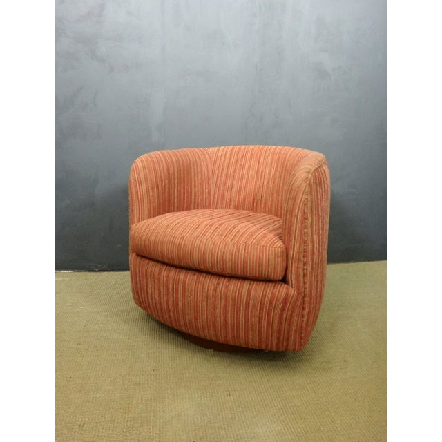 Milo Baughman Mid Century Swivel Club Chair - Image 2 of 5