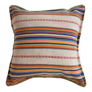 Vintage Striped Manta Pillow
