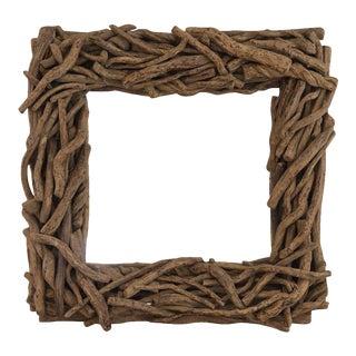 Organic Square Driftwood Mirror
