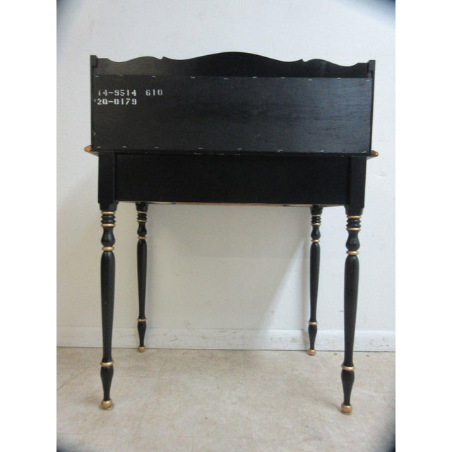 Ethan Allen Hitchcock Paint Decorated Writing Desk - Image 5 of 10
