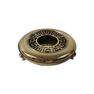 Brass Greek Key Ashtray