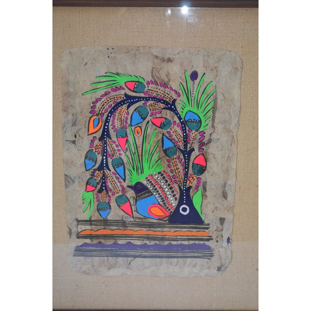 Otomi Mexican Folk Art Amate Painting - Image 7 of 9