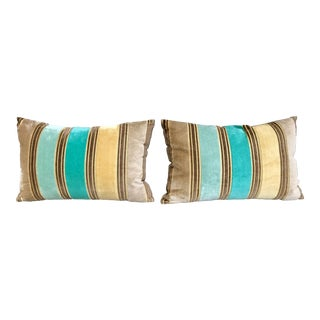 Pair of Velvet Decorative Pillow By Designers Guild