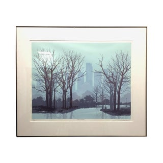 "Vintage Litho ""After the Rain"" Cityscape"