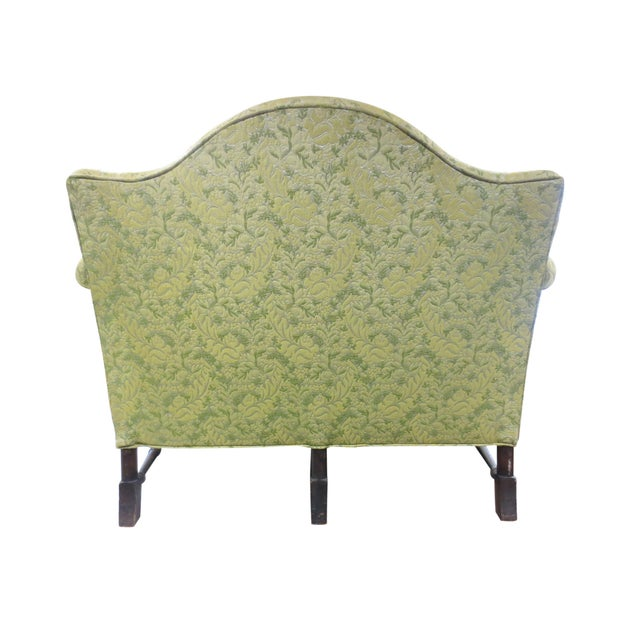 Lime Green Loveseat on Carved Stretchers - Image 4 of 10
