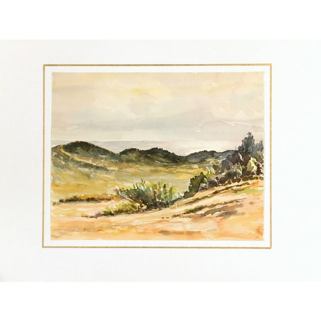 Vintage Chaparral Landscape Watercolor Painting - Image 3 of 3