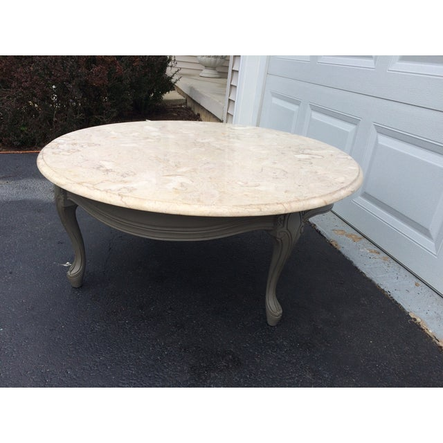 French Provincial Coffee Table Set: French Provincial Round Coffee Table