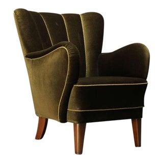 Danish 1940's Upholstered Armchair