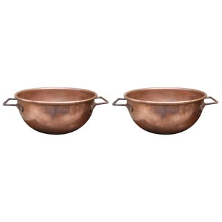 19th Century Copper Cooking Vats - A Pair