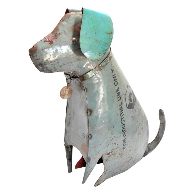 Recycled Metal Dog Sculpture - Image 1 of 8