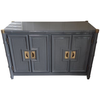 Hollywood Regency Style Lacquered Bar