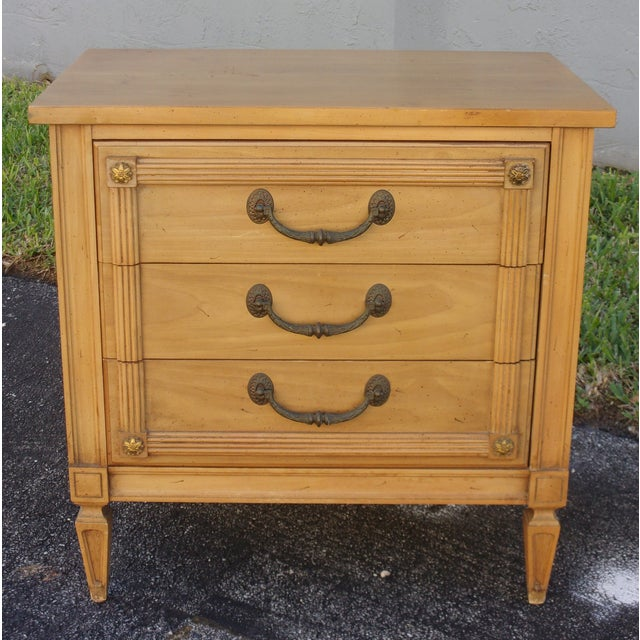 Mid-Century Three-Drawer Commodes - A Pair - Image 7 of 8