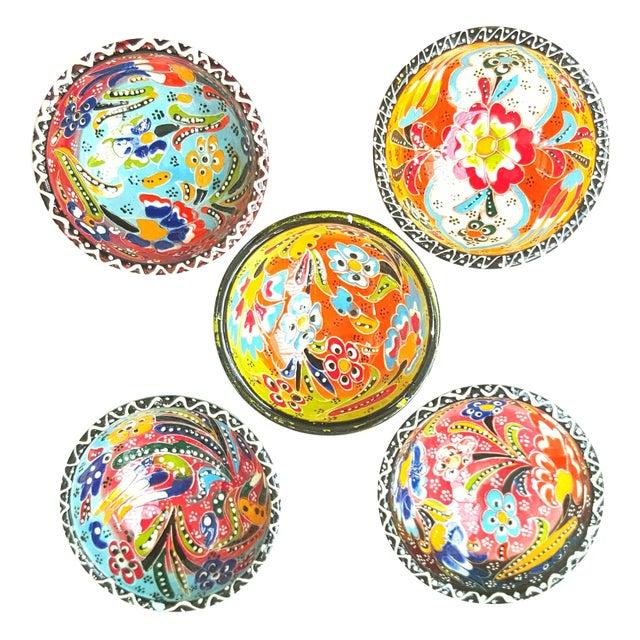 Turkish Tile Bowls - Set of 5 - Image 1 of 4