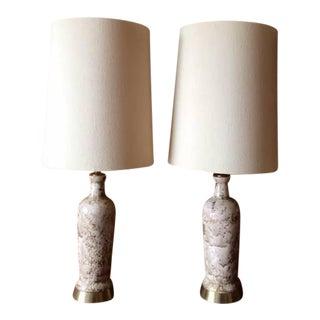 Mid-Century Ceramic Glaze Lamps - A Pair