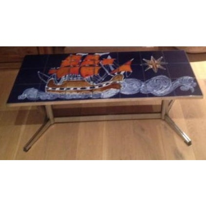 Vintage Belgian Chrome Tiled Coffee Table - Image 2 of 6