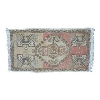 Turkish Handwoven Oushak Carpet - 1′7″ × 2′11″