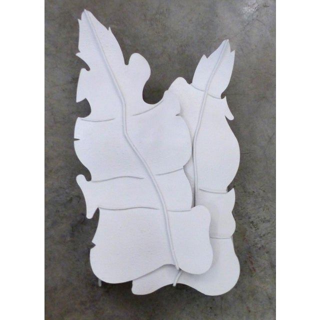 Mid-Century Metal Leaf Sconce - Image 3 of 8