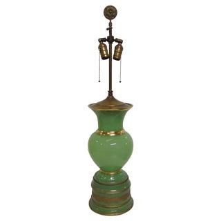 Green Opaline Cenedese Murano Lamp 1930's
