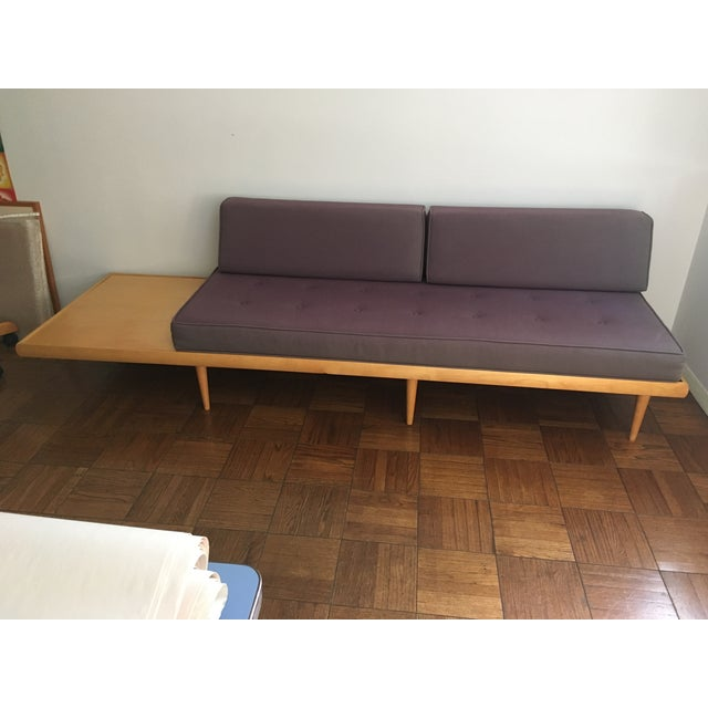 Mid Century Modern Sofa With Built In Side Table Chairish