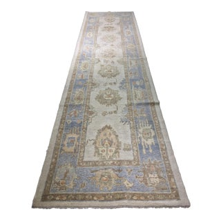 "Vintage Turkish Oushak Runner - 3'5"" X 13'6"""