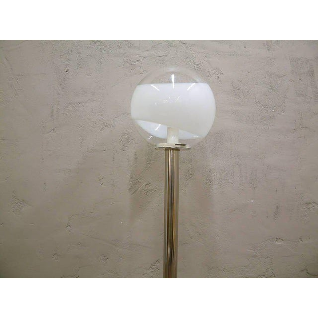 1960s Mazzega Style Tubular Chrome and Murano Glass Floor Lamp - Image 2 of 9