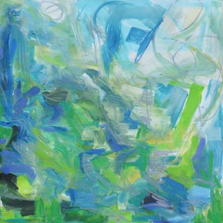 """Abstract Oil Painting by Trixie Pitts """"Silver Haze"""""""